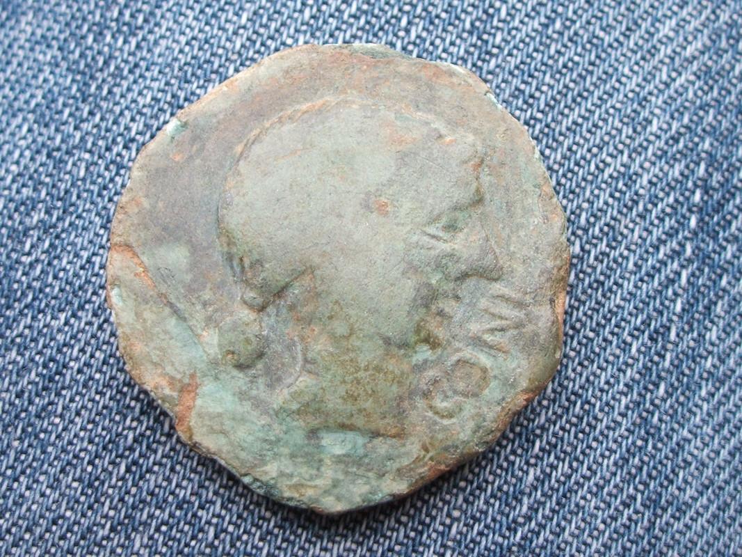 As de Obulco de finales del S. III a.c., anv. CONIPR, rev. AID AR Coni_1