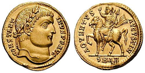 Denominación de monedas en la antigua Roma: El Bajo Imperio. 0_0solido_constantino