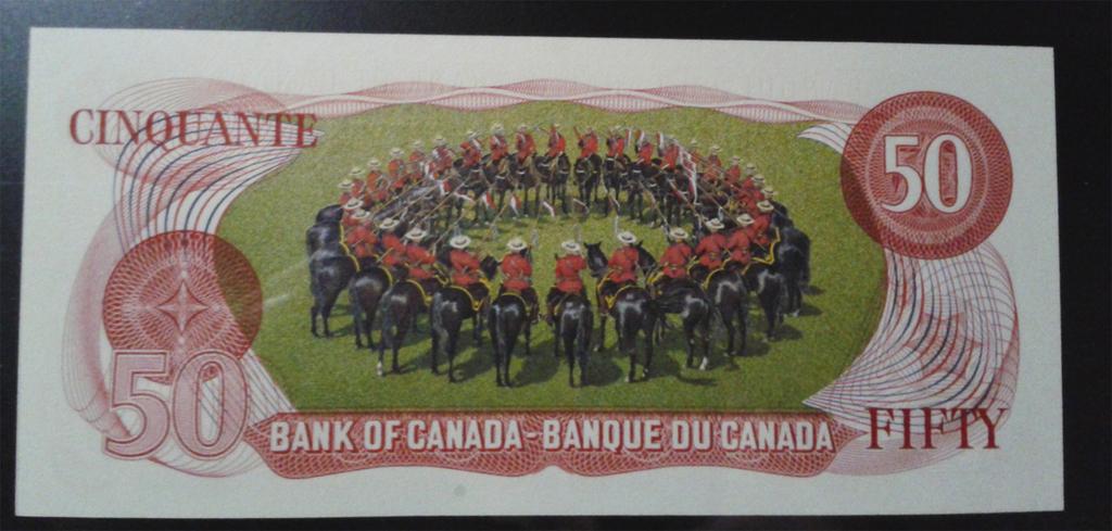 Canadá, 50 dólares 1975 Can90br