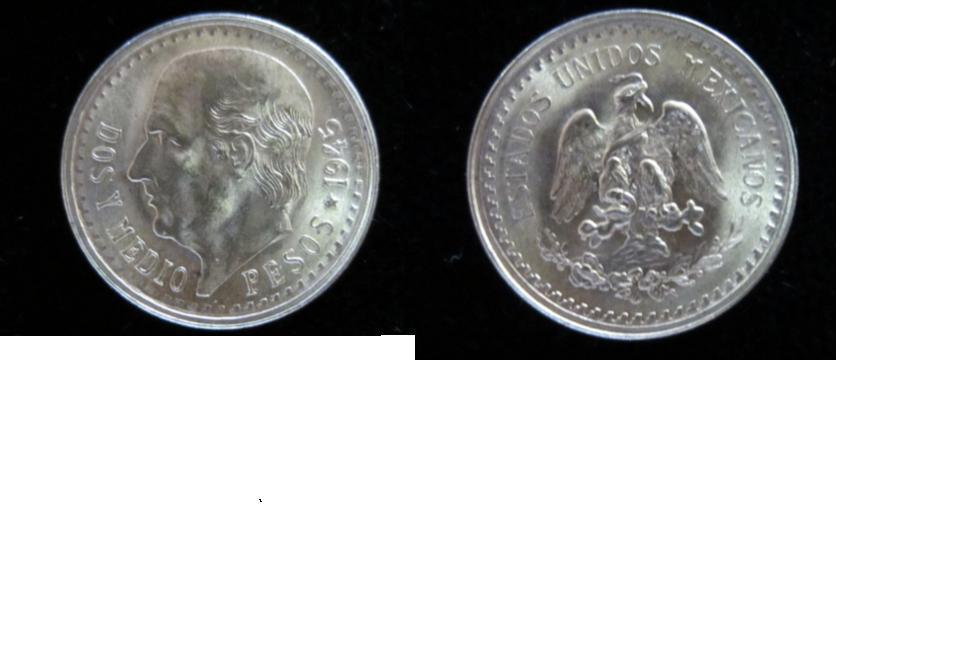 1 Peso. Mexico. 1882 2_5_PESOS_1945_JP_G
