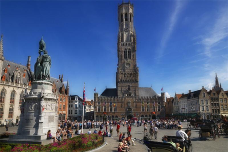 1 Patagón 1655. Felipe IV. Brujas. La Capital del Condado de Flandes. Bruges_Overview_1