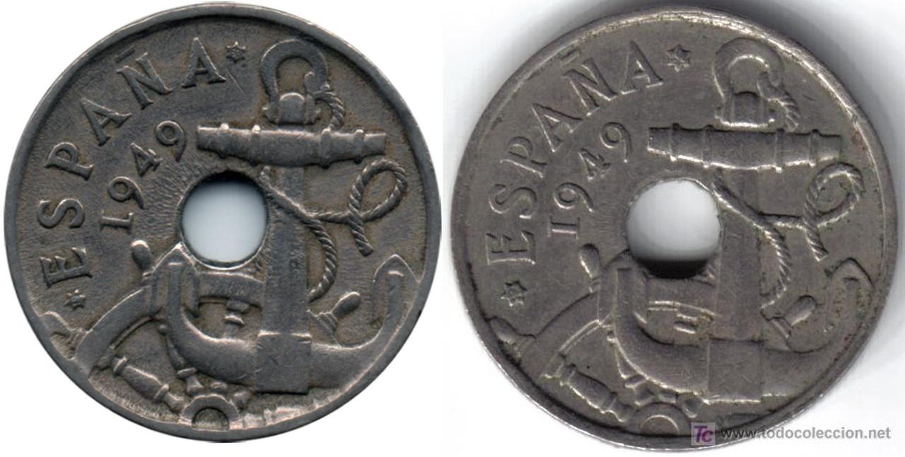 50 Céntimos 1949. Francisco Franco. Variante. Proyecto1