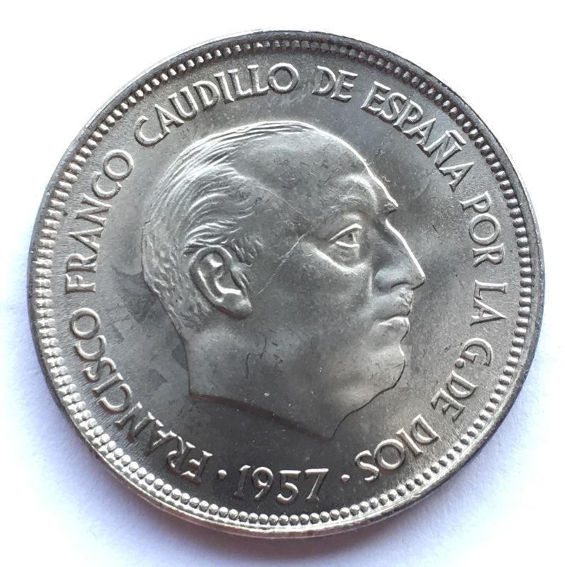 25 pesetas 1957 (*67). Estado Español. Opinión IMG_8310