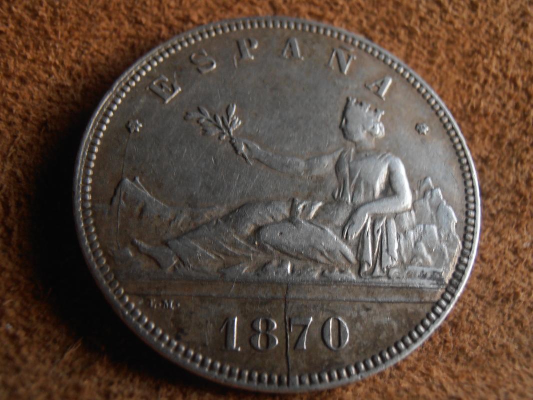 5 pesetas 1870. Gobierno Provisional PC010001