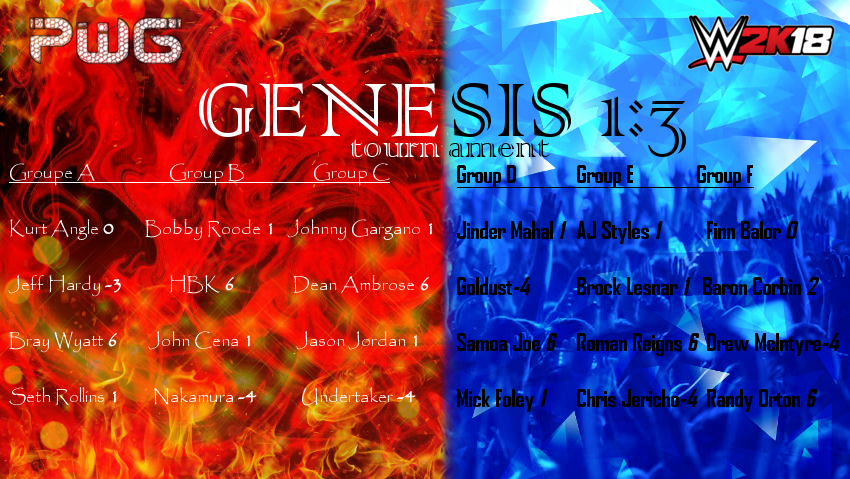 2-1-18 Match Card Genesis_Tournament