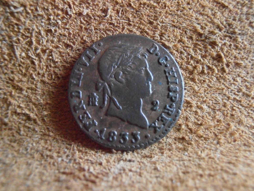 2 Maravedís 1833. Fernando VII. Segovia  P4010006