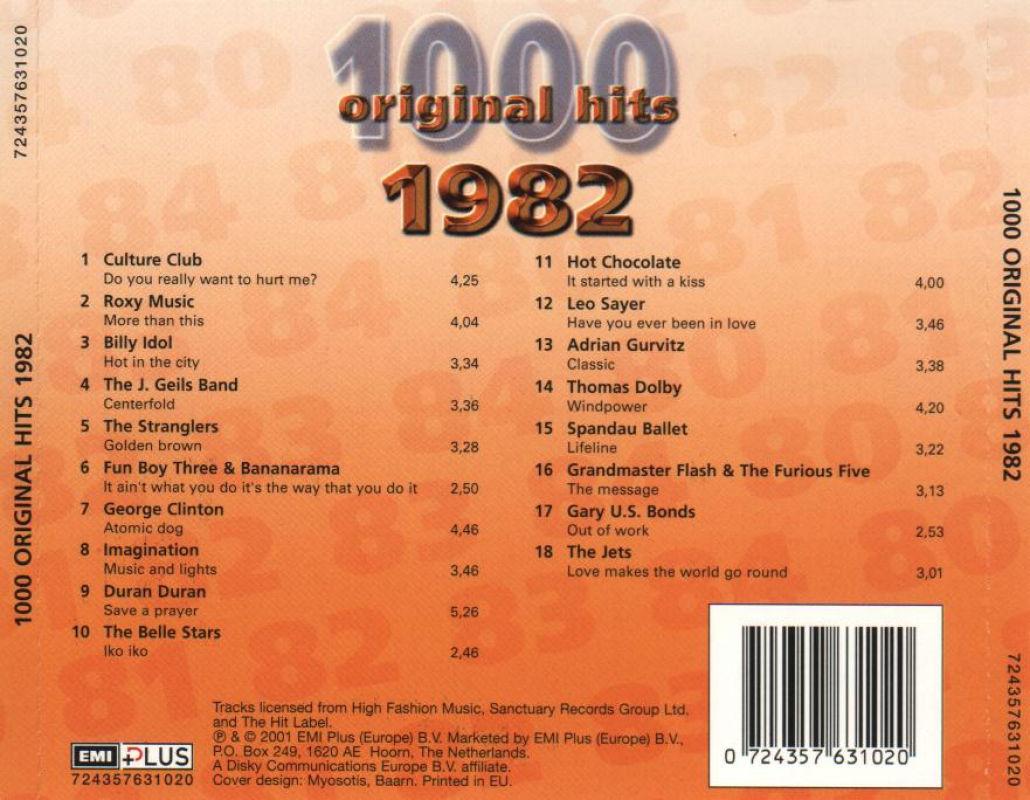 1000 Original Hits 1960-1999  1000_Original_Hits_1982_-_Back