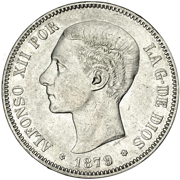 5 pesetas 1879 buena y mala 3484a
