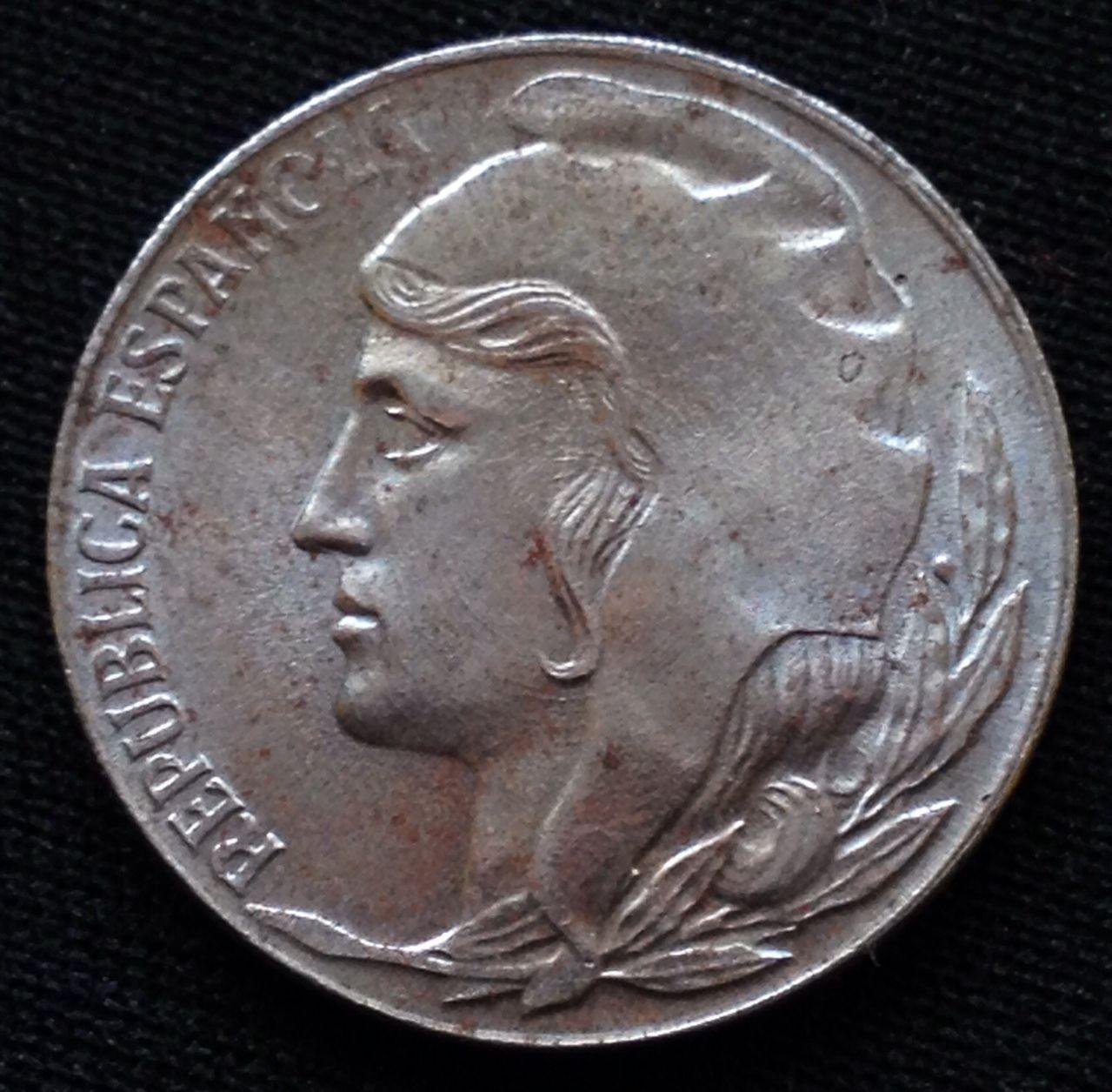 5 céntimos 1937. II República. - Opinión Image
