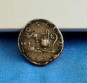 Denario de Adriano. COS III. Instrumentos sacerdotales. Roma IMG_5706
