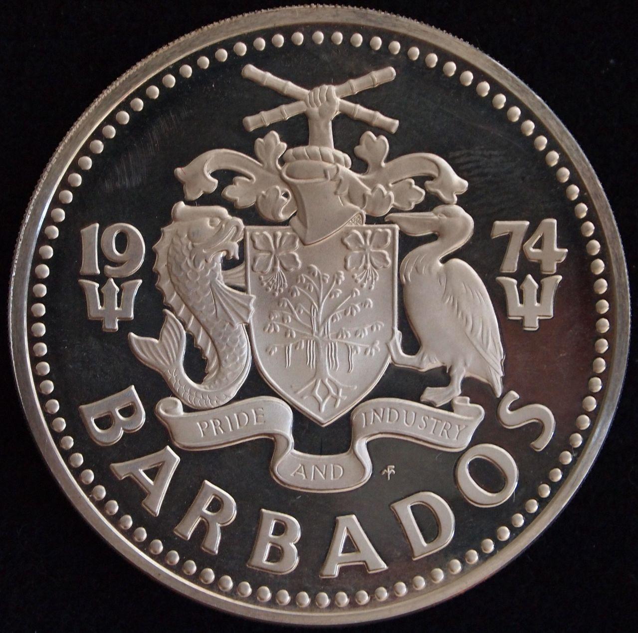 10 dolares Barbados 1974 2