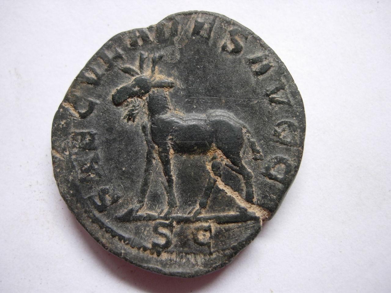 Antoniniano. Filipo II (Serie de los Juegos Seculares). 248. Roma (Tercera oficina). Alce