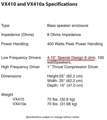Entendendo impedancia e ohms - Somente para equipamentos de amplificação para contrabaixo - Página 13 Vx410