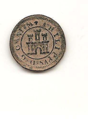 "2 maravedis ""tipo omnium"" 1597. Felipe II. Segovia. Image"