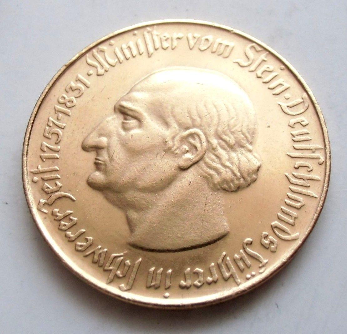 Monedas de emergencia emitidas por el banco regional de Westphalia 1922_100a