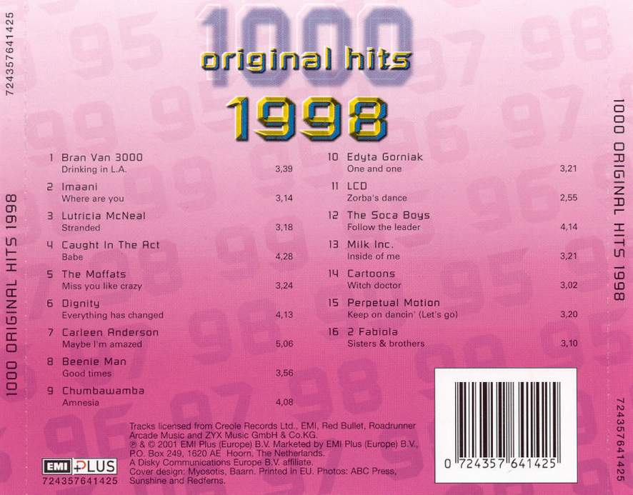 1000 Original Hits 1960-1999  - Stránka 2 1000_Original_Hits_1998_-_Back