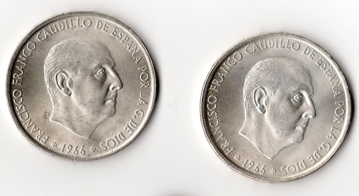 2 monedas 1966 *69 100_pesetas_1966-69_2_anv