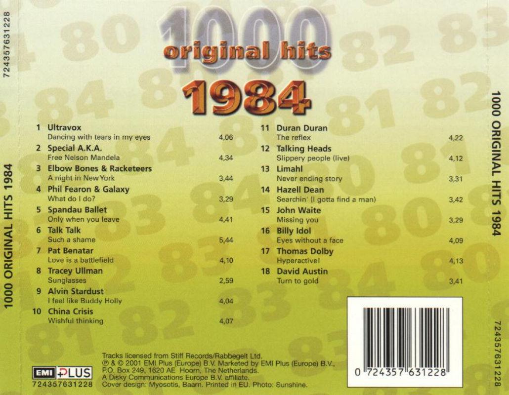 1000 Original Hits 1960-1999  1000_Original_Hits_1984_-_Back