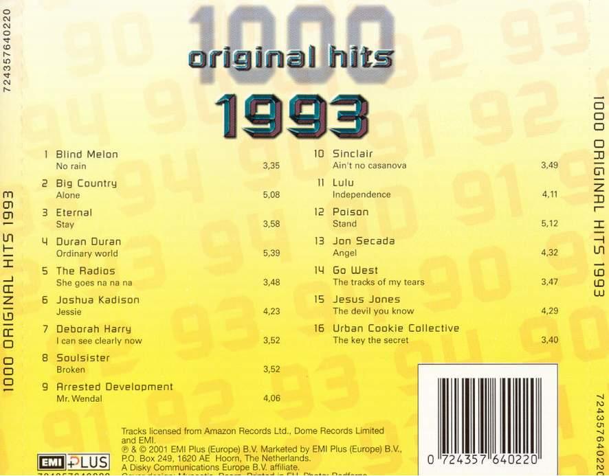 1000 Original Hits 1960-1999  - Stránka 2 1000_Original_Hits_1993_-_Back