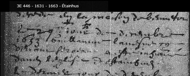 Inhumation LAVESNE Etainhus 1653 Double