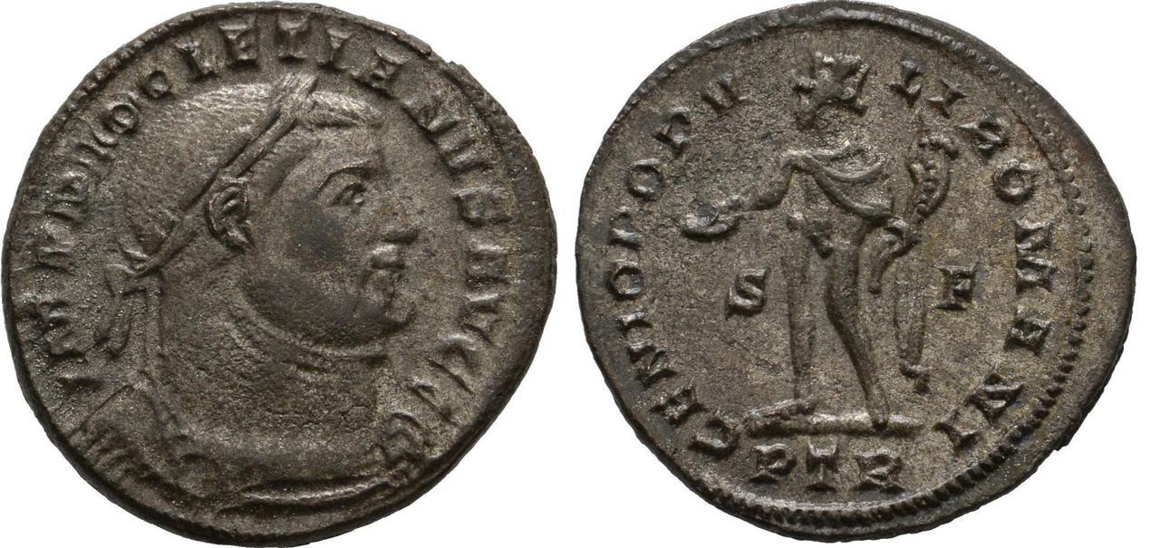 Nummus de Diocleciano. GENIO POPVLI ROMANI. Nummus_diocleciano
