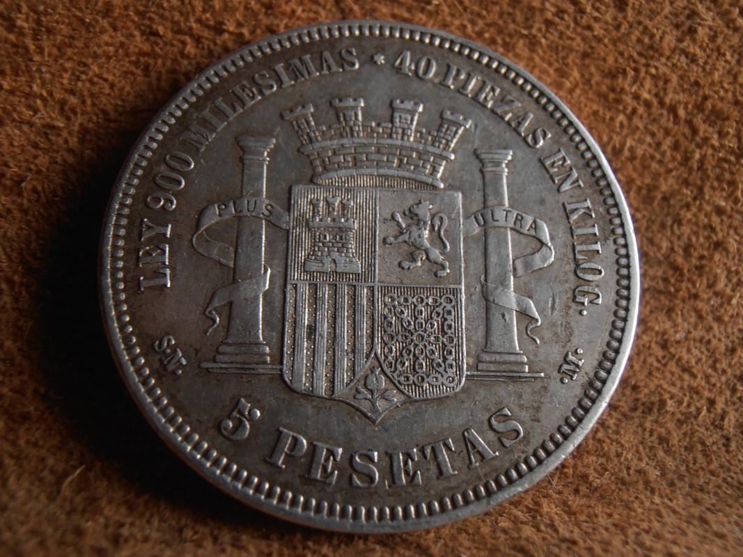 5 pesetas 1870. Gobierno Provisional PC010002