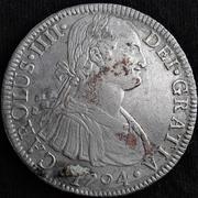 8 Reales 1794 Carlos IV Méjico FM Image