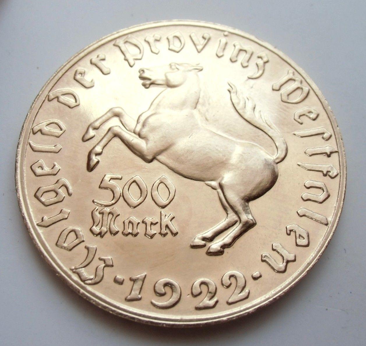 Monedas de emergencia emitidas por el banco regional de Westphalia 1922_500b