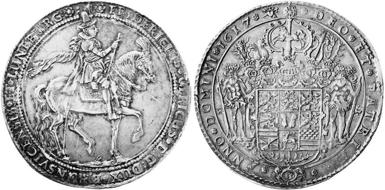 Monedas ecuestres 3_thaler_1617_Alemania_Brunswick