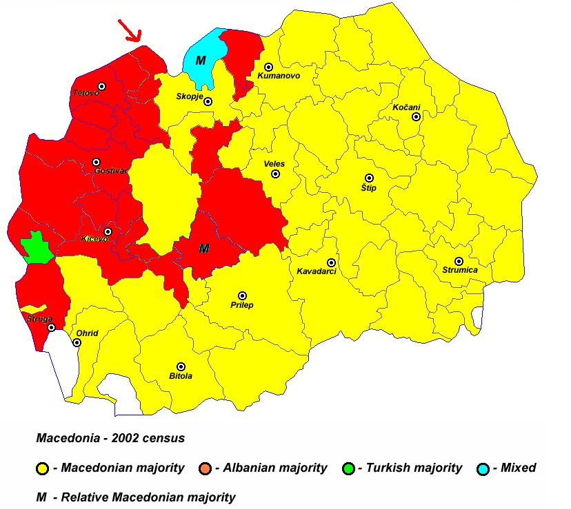 Pamja shqiptare e Maqedonise, dje, sot dhe neser Harta_7