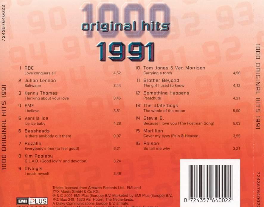 1000 Original Hits 1960-1999  - Stránka 2 1000_Original_Hits_1991_-_Back