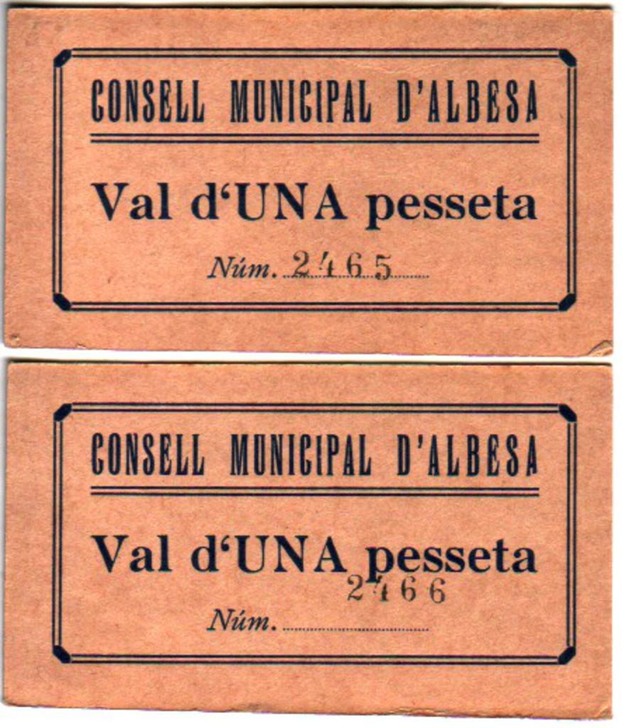 1 Pesseta Albesa, 1937 (sin fecha T86) Albesa1