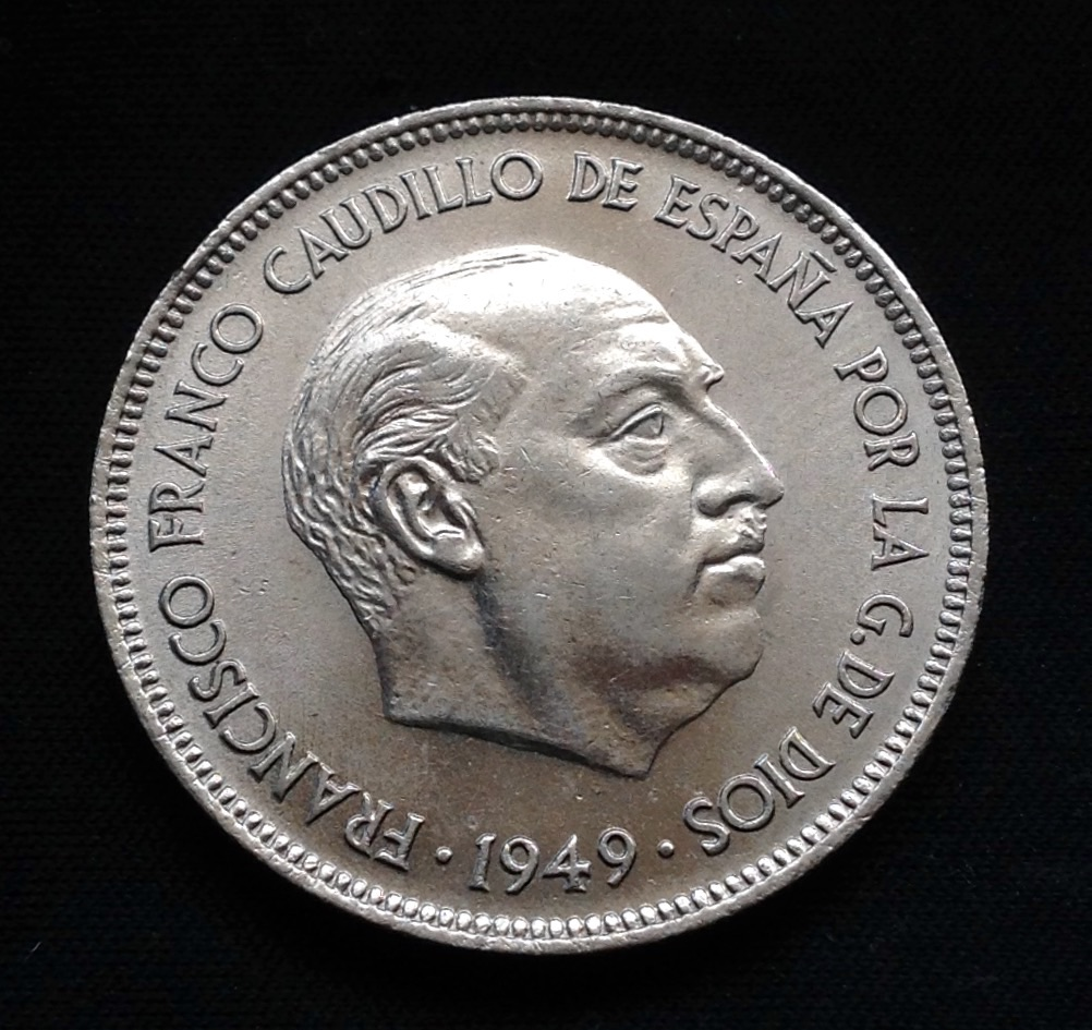 5 pesetas 1949 *49 Estado Español Image
