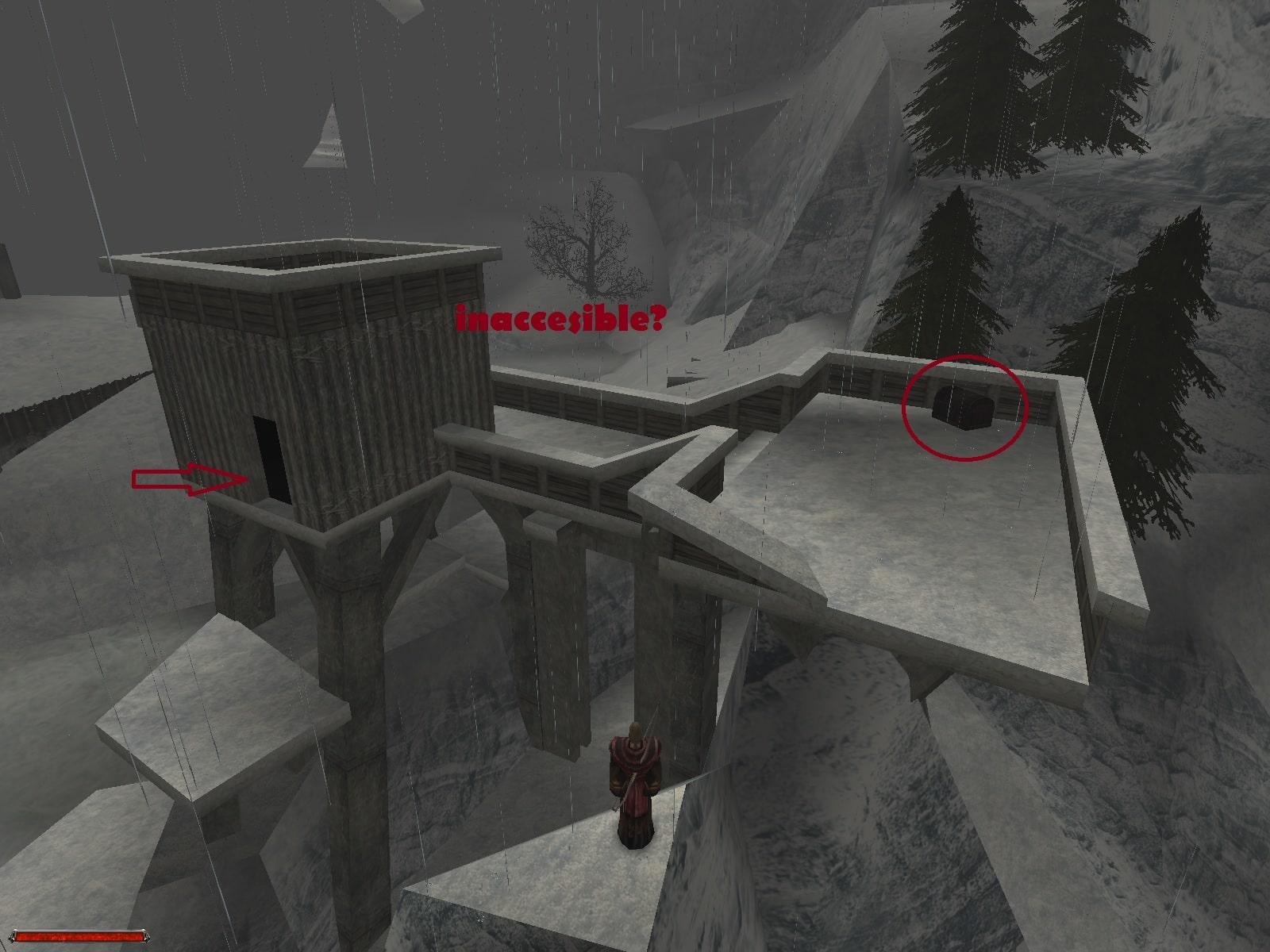 Lugar inaccesible zona del dragon de hielo. Gothic_2