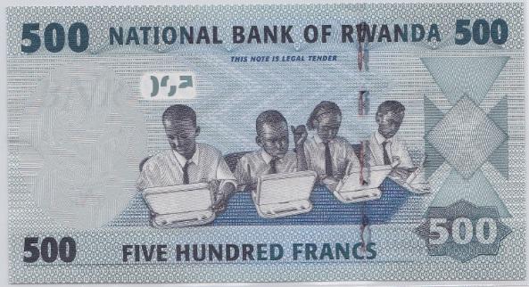 500 francos Rwanda, 2013 Rwanda_500_francos_2013_R