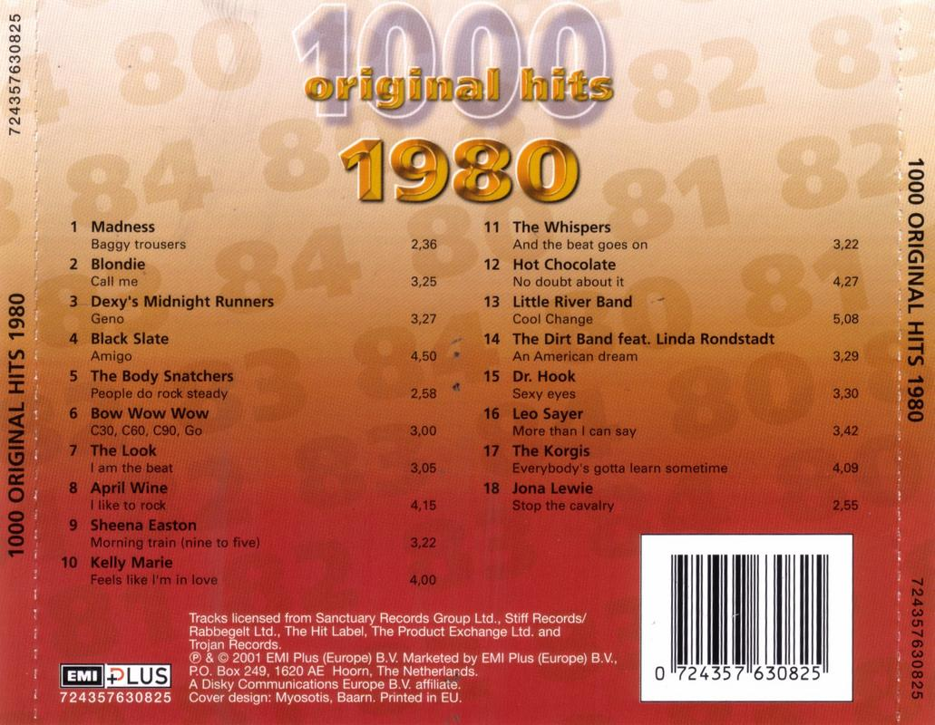 1000 Original Hits 1960-1999  Back