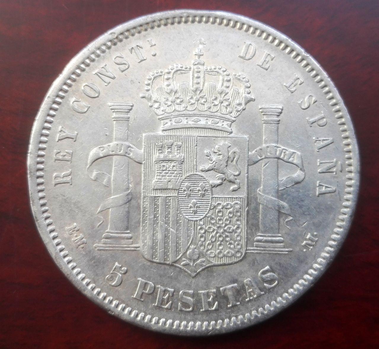 5 pesetas 1878 EM M, Alfonso XII 5_pesetas_1878_EMM_3