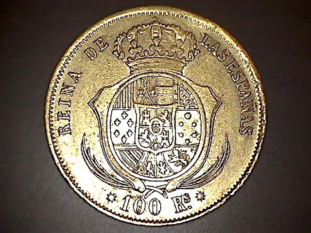 100 reales 1859 Isabel II - Barcelona 14022302545151694644