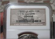 """8 reales 1780. Carlos III. Méjico. Pecio Buque """"El Cazador"""". Certificado NGC. 57_2"""