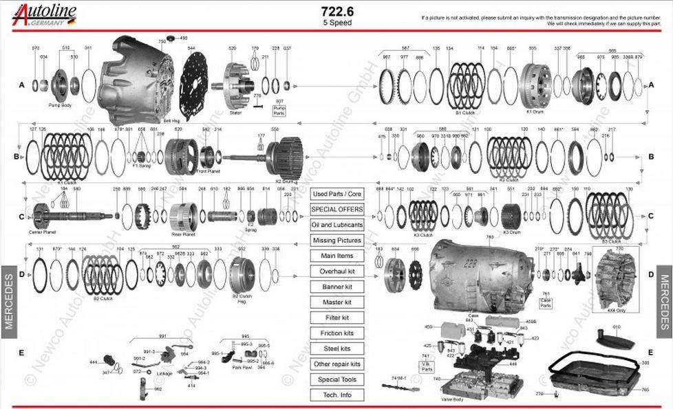 Imagens Explodidas câmbios Mercedes 722.X 722_6
