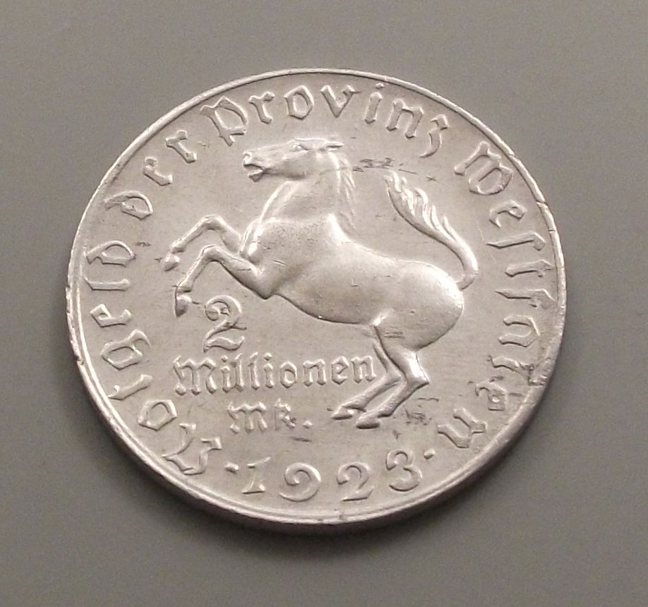 Monedas de emergencia emitidas por el banco regional de Westphalia 1923_2mb