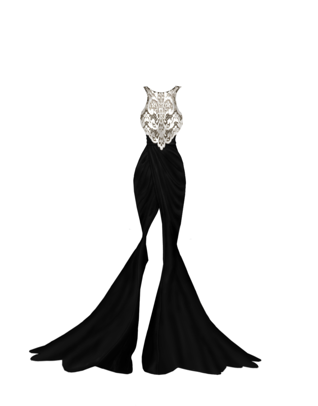 FREE----Weekly Gift Long_black_lace_gown