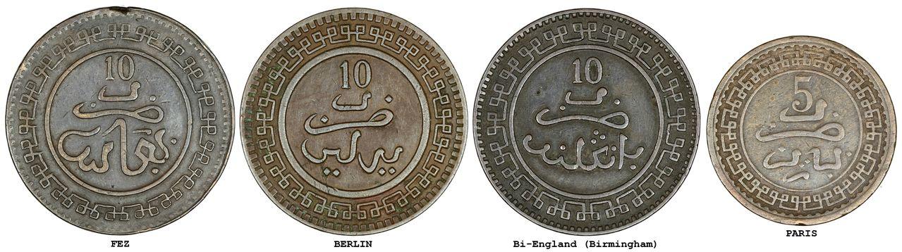 Identificación de las cecas de la moneda de Marruecos. Cecas_INT