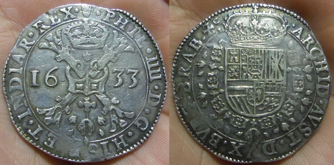1 patagón 1633. Felipe IV. Amberes IMGP3967