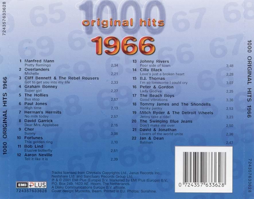 1000 Original Hits 1960-1999  1000_Original_Hits_1966_-_Back