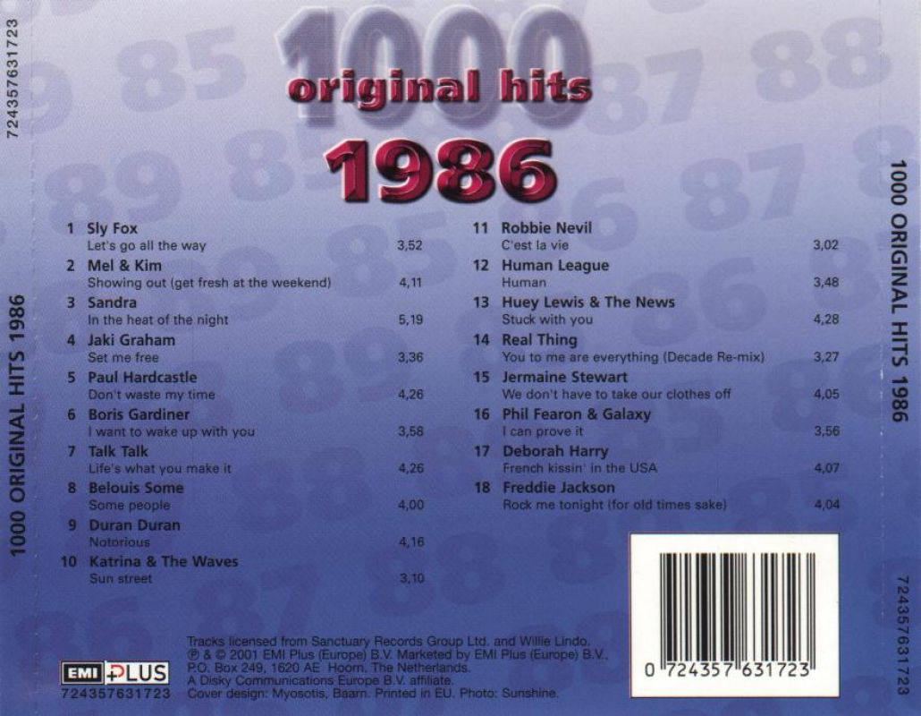 1000 Original Hits 1960-1999  - Stránka 2 1000_Original_Hits_1986_-_Back