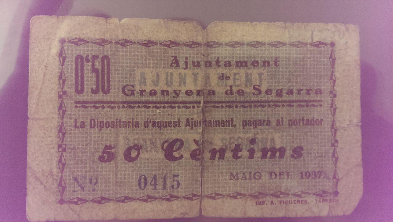 50 Céntimos Granyena de Segarra, 1937 ( 1ª Emisión) IMAG0359