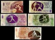 La polémica serie de billetes de atletismo lituana de 1.991 Atletismo_Lituania_001