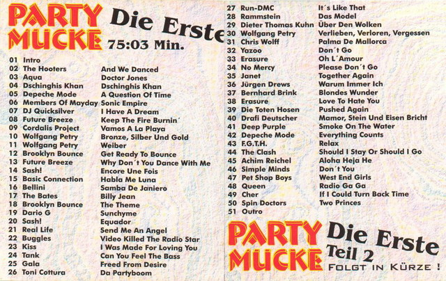 Party mix Mucke vol.1 Back