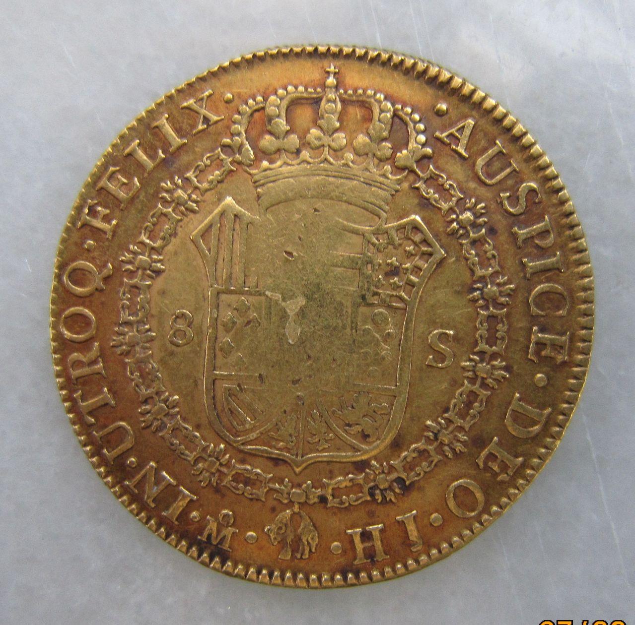 8 escudos 1811 (resello sobre 1810). México. Fernando VII 8_escudos_M_xico_1811_Fernando_VII_rev